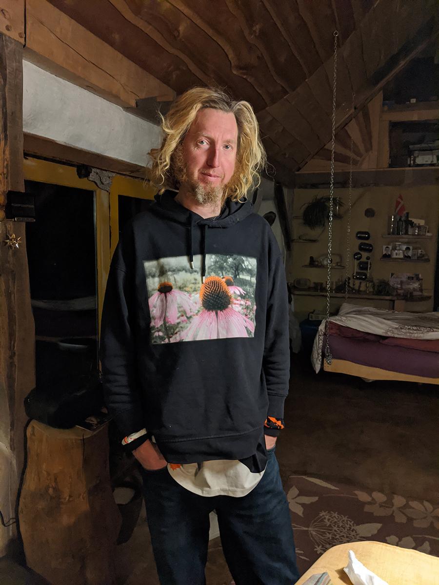 Karl with Echinacea shirt
