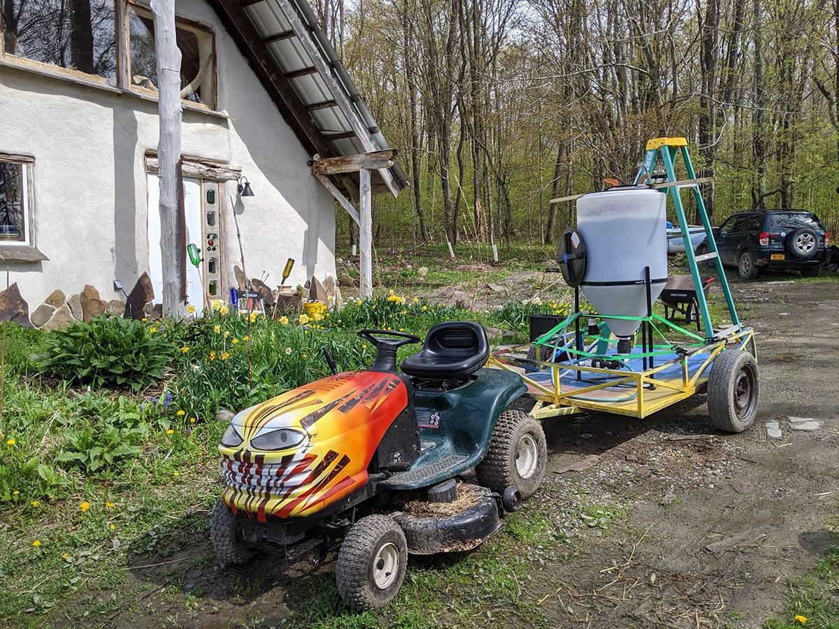 Compost tea wagon