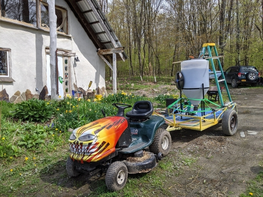 Compost tea wagon
